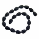Black 15x10mm Faceted Teardrop Glass Beads 12 inch Strand