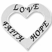 "Affirmation Heart ""Love, Faith, and Hope"" (1PC)"