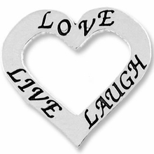"Affirmation Heart ""Love, Live, and Laugh"" (1PC)"