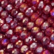 Majestic Crystal® Ruby AB 3x4mm 32-Facet Crystal  Rondelle Beads (50PK)