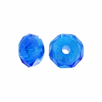Majestic Crystal® Sapphire AB 3x4mm 32-Facet Crystal Rondelle Beads (50PK)