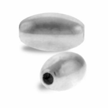 4 x 7mm Sterling Silver Smooth Oval Beads (1PC)