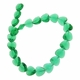 Green 19x15mm Faceted Heart Glass Beads 13 inch Strand