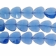 Light Sapphire 19x15mm Faceted Heart Glass Beads 13 inch Strand
