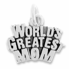 Worlds Greatest Mom Charm