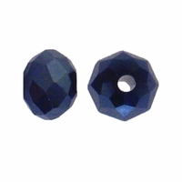 Majestic Crystal® Hematite 3x4mm 32-Facet Crystal Rondelle Beads (50PK)