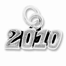Sterling Silver 2010 Horizontal Sterling Silver Charm
