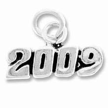 Sterling Silver 2009 Horizontal Sterling Silver Charm