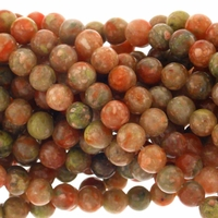 Sunset Jasper 8mm Round Gemstone Beads 16 inch Strand