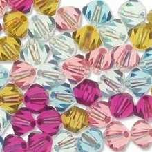 Blush 5328 Swarovski 4mm Crystal Bicone Mix (50PK)