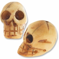 Large Skull Bone 20mm x 14mm Bead