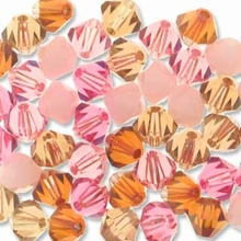 Enchanting 5328 4mm Swarovski Crystal XILION Bicone Mix (50PK)