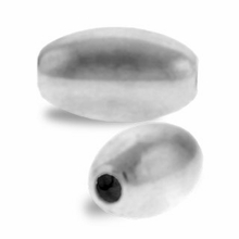 5 x 8mm Sterling Silver Smooth Oval Beads (1PC)