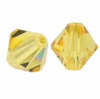 Light Topaz 5328 3mm Swarovski Crystal XILION Bicone Beads (50PK)