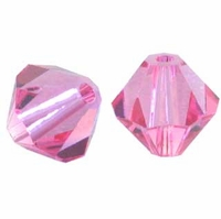 Rose 5328 3mm Swarovski Crystal XILION Bicones Beads (50PK)