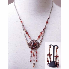 Necklace and Earrings Kit- Glass Stone