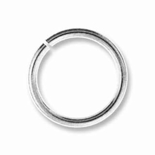 6mm Silver Plated Brass Jump Ring 19ga (10 PK)