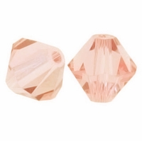 Majestic Crystal® Peach 4mm Faceted Bicone Crystal Beads (36PK)
