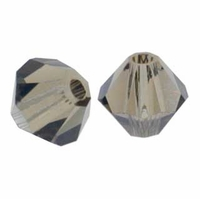 Smokey Quartz 5328 4mm Swarovski Crystal XILION Bicone Beads(10PK)