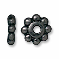 6mm Black Finish Beaded Heishi (10PK)