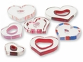Furnace Cane Glass Beads Large Heart Slices Mix 1oz