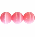 8mm Pink Cat Eye Glass s Beads 16 Inch Strand