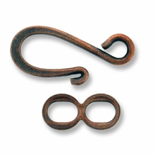 Antique Copper Plated Hook & Eye Clasp (5PK)