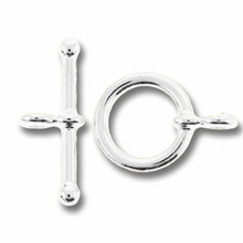 Silver Plated Mini Toggle (1PC)