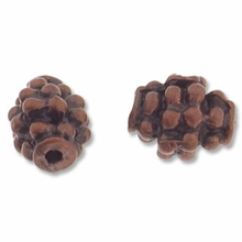 Antique Copper Plated 6mm Pine Cone Beads (5PK)