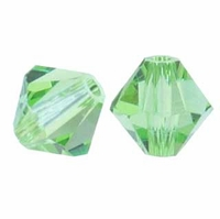Majestic Crystal® Peridot 6mm Faceted Bicone Crystal Beads (18PK)