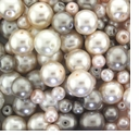Champange Mix Glass Pearls 4-20mm (100G)