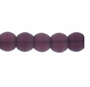 8mm Purple Frosted Round Glass Beads (42PK)