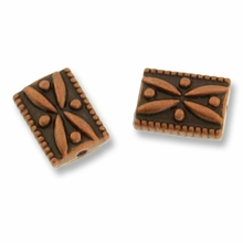 Antique Copper Plated Small Rectangle Bead (1PC)
