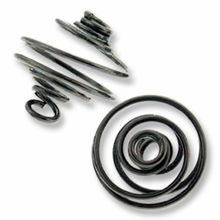 Gun Metal Plated Small Spiral Cages (1PC)