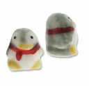 Porcelain Cute Penguin 17x16mm Beads (2PK)