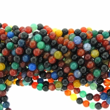 6mm Multicolor Round Agate Beads 15 Strand