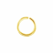 Gold Plated 4mm Open Jump Rings (20PK)