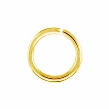 Gold Plated 6mm Open Jump Rings (20PK)