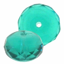 Gemstone Donut 7/5mm Teal (12PK)
