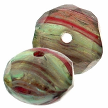 GD 9/6mm Huricane Glass Multi-Swirl  (12PK)