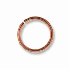 4mm Copper Plated Brass Jump Ring 20ga (10 PK)
