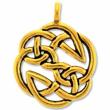Pewter Gold Open Knot Pendant