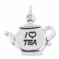 Sterling Silver I love Tea Charm