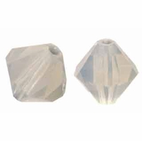 Light Grey Opal 5301 Discontinued Swarovski 8MM Bicone Bead (1PC)