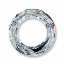 14mm Swarovski Cosmic Ring 4139: Crystal Silver Shade CAL V SI