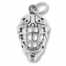 Sterling Silver Hockey Mask Sterling Silver Charm