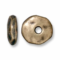 7mm Brass Oxide Nugget Heishi (10PK)
