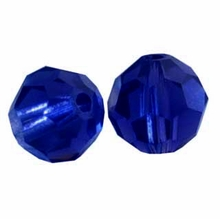 Dark Indigo Swarovski 5000 6mm Crystal Beads (10PK)