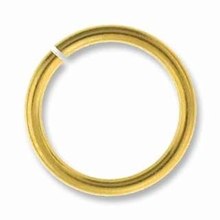 8mm Gold Plated Brass Jump Ring 18ga (10 PK)