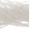 4mm Snow Quartz 16 Inch Bead Strand